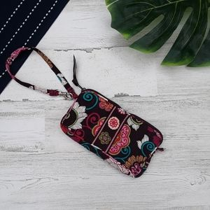 VeraBradley| Wristlet Wallet Medium Floral Paisley